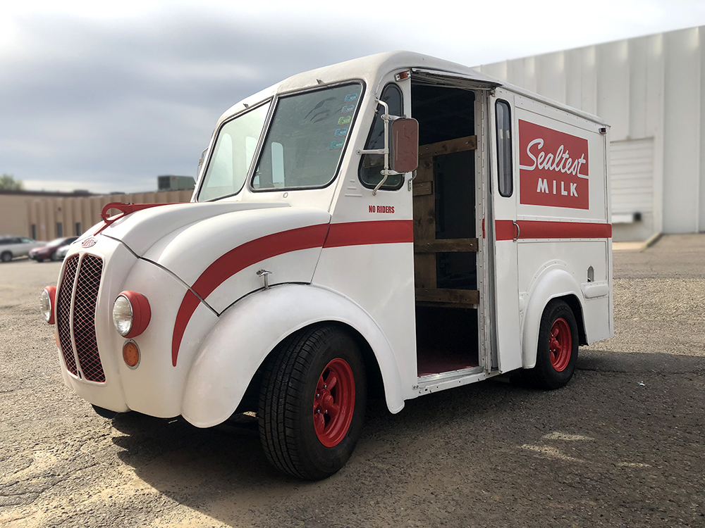 Cool retro deliver truck at Automotive Revival