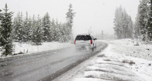 Mountain driving in winter
