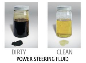 dirty power steering fluid