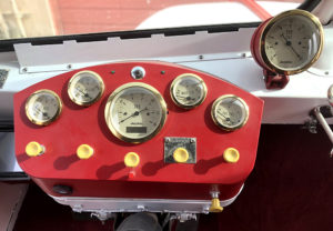 Dashboard shot of cool retro deliver truck at Automotive Revival