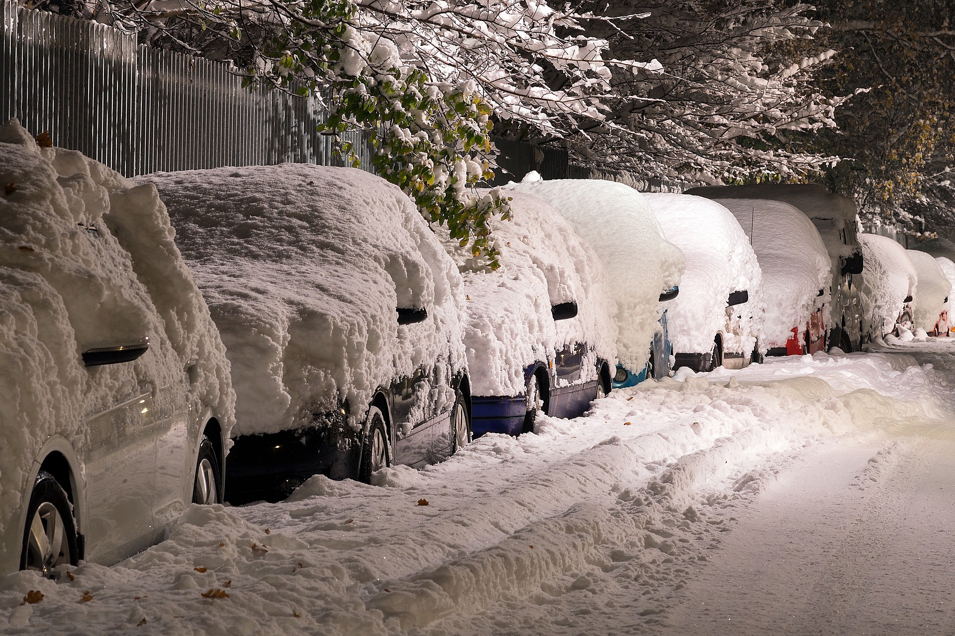 Cars in winter