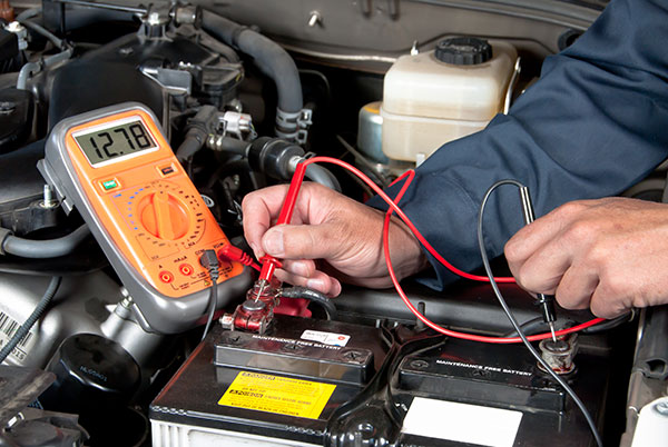 car battery voltage check